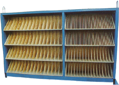 Bookcase-style Spacer Storage Cabinet from Coil Processing Equipment Consultants