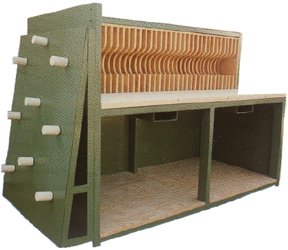 Knife Storage Cabinet with Spacer Storage and Work Table from Coil Processing Equipment Consultants