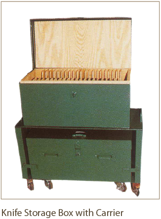 Knife Storage Box with Carrier from Coil Processing Equipment Consultants