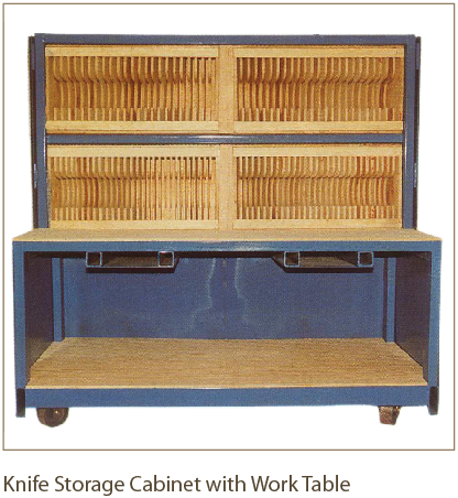 Knife Storage Cabinet with Work Table from Coil Processing Equipment Consultants