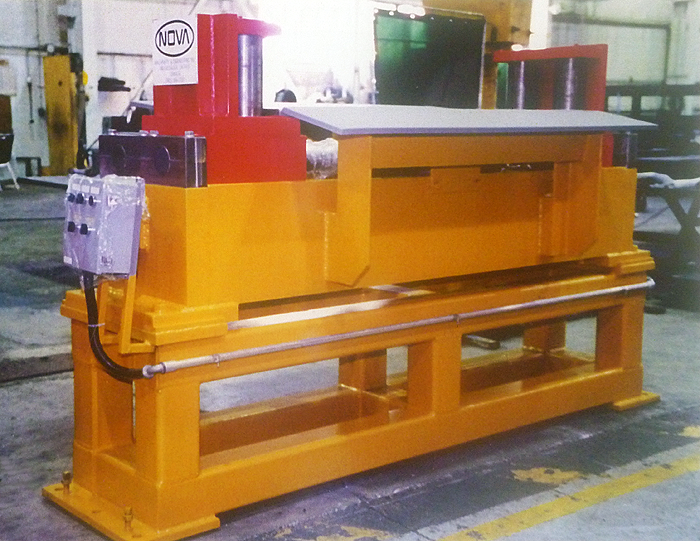 Nova Entry Side Guide Table, Breaker Roll & Crop Shear