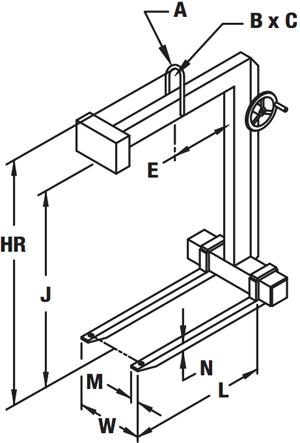 Hand Wheel Adjustable Forks