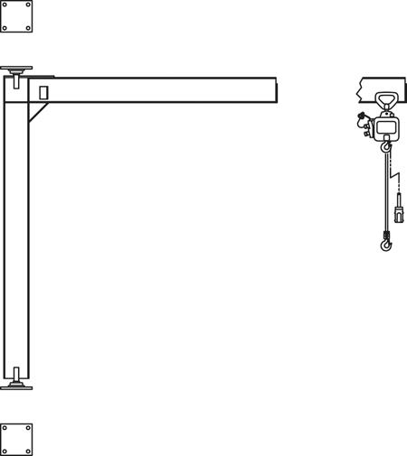 Jib Crane - Mast Type Full Cantilever