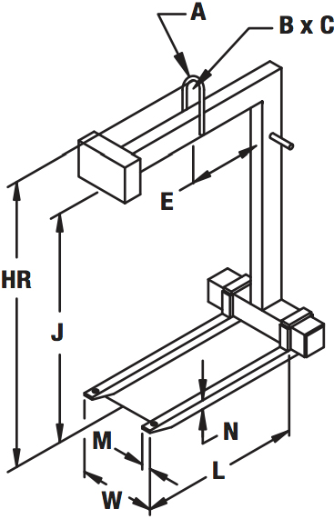standard-adjustable-fork-pallet-lifter-diagram